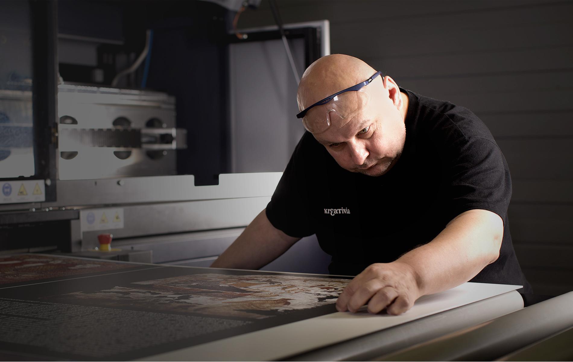 Großformatige Druckerei